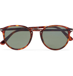 Persol - Round-Frame Tortoiseshell Acetate and Rose Gold-Tone Sunglasses