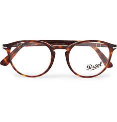 Persol Round-Frame Tortoiseshell Acetate Optical Glasses