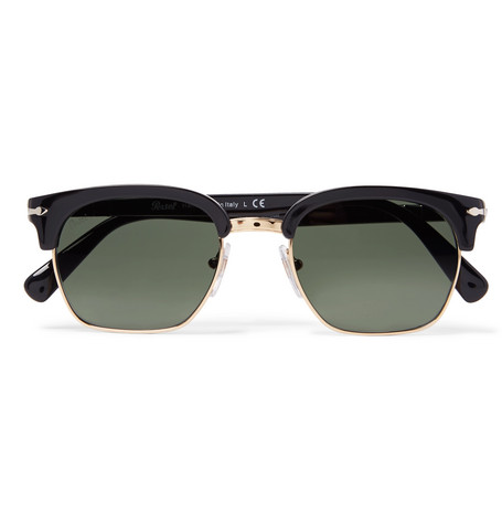 e070688a368 Persol - D-Frame Gold-Tone and Acetate Sunglasses