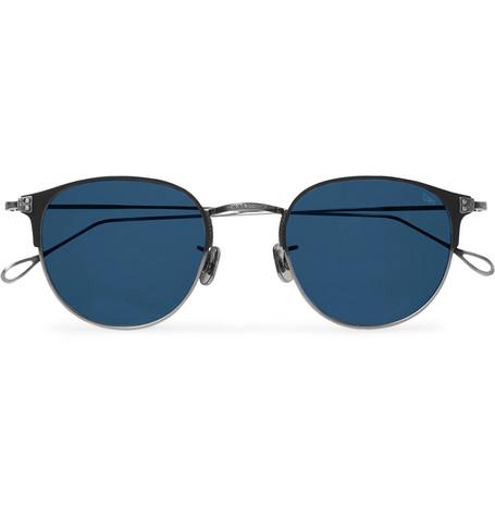 6b50898d298 Eyevan 7285 - Round-Frame Acetate and Titanium Sunglasses