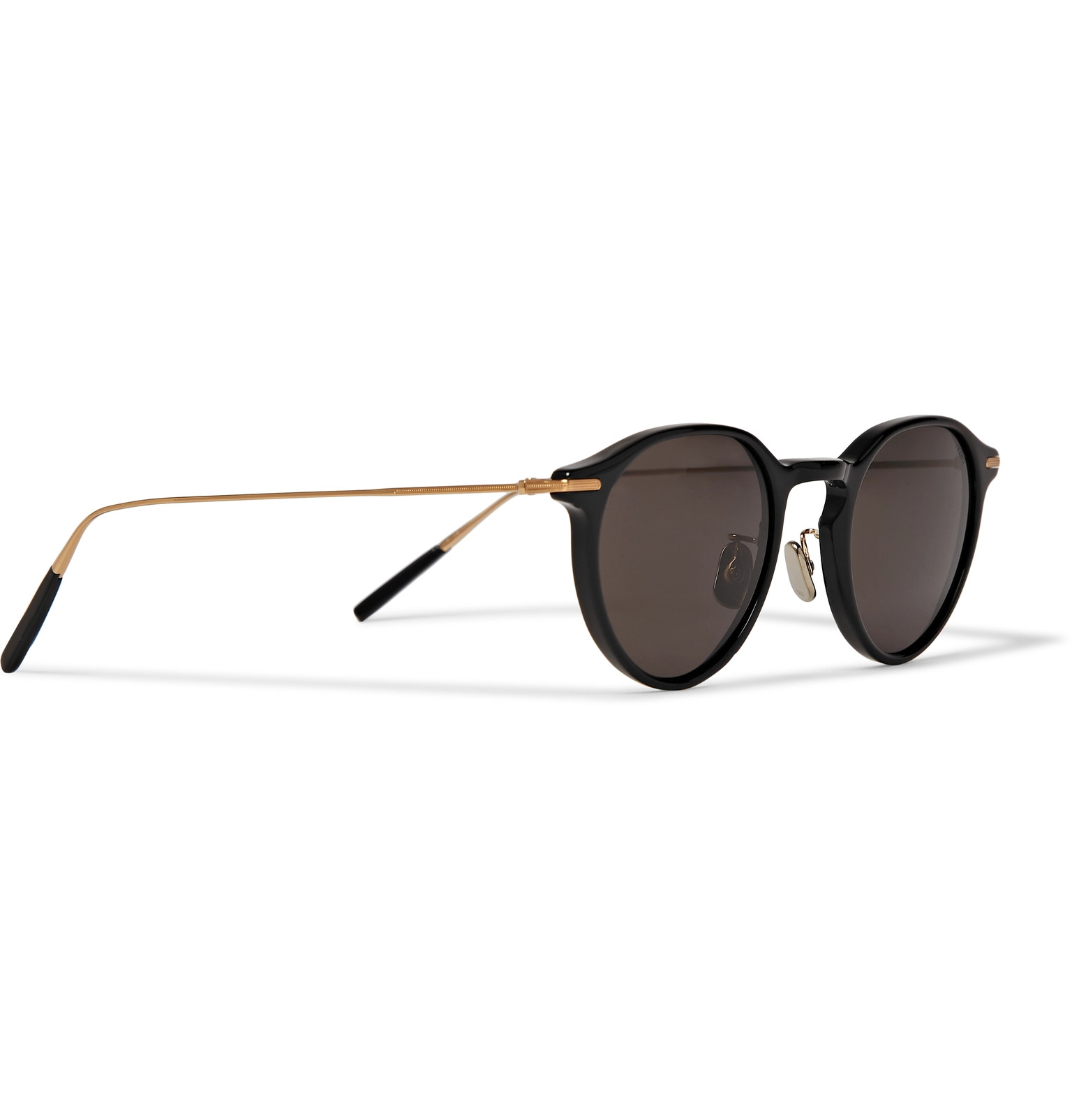 d59df2ca9e Eyevan 7285Round-Frame Acetate and Gold-Tone Sunglasses.  470. Tap to  Close. 1