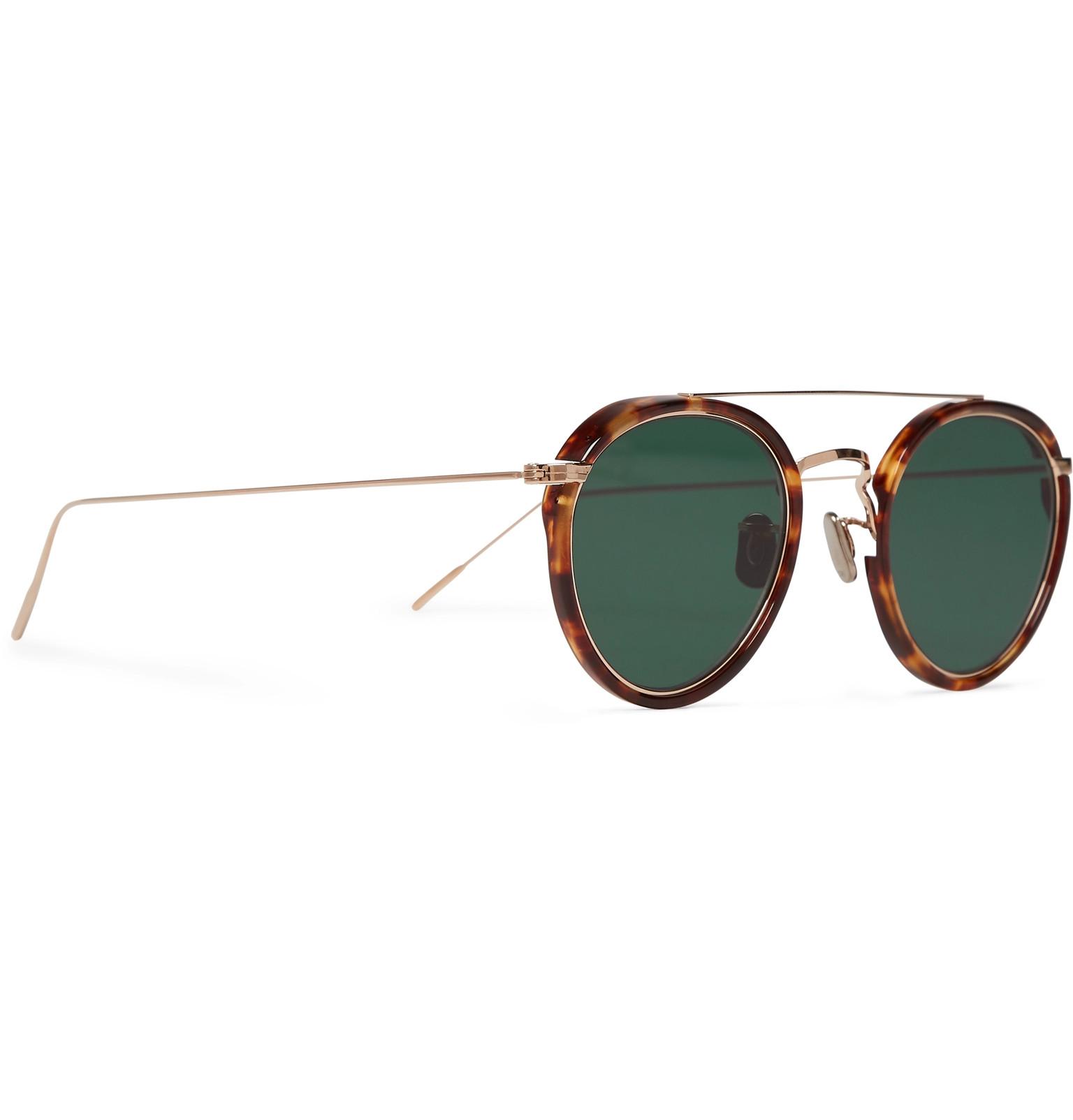 f8190ede89 Eyevan 7285 - Round-Frame Tortoiseshell Acetate and Gold-Tone Sunglasses
