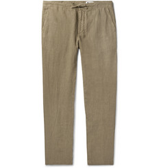 NN07 Copenhagen Slim-Fit Garment-Dyed Linen Drawstring Trousers