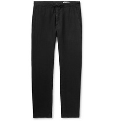 NN07 Copenhagen Slim-Fit Tapered Garment-Dyed Linen Trousers