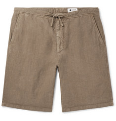 NN07 Copenhagen Slim-Fit Garment-Dyed Linen Drawstring Shorts