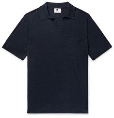 NN07 Ryan Cotton and Linen-Blend Polo Shirt