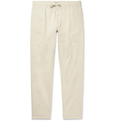 NN07 - Domenico Tapered Pleated Cotton-Blend Twill Drawstring Trousers
