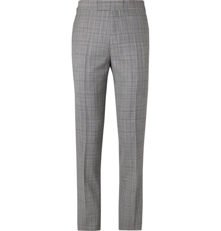 Kingsman Slim-Fit Houndstooth Wool-Blend Suit Trousers