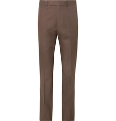 Kingsman Brown Slim-Fit Cotton-Twill Suit Trousers