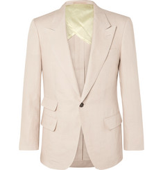 Kingsman - Beige Slim-Fit Linen Suit Jacket