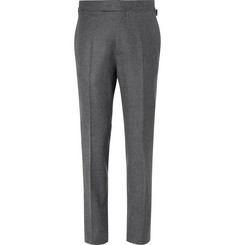 Kingsman Rocketman Grey Slim-Fit Wool-Flannel Suit Trousers