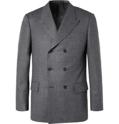 Kingsman - Rocketman Grey Double-Breasted Wool-Flannel Suit Jacket