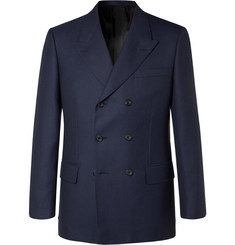 Kingsman - Rocketman Navy Double-Breasted Wool-Twill Suit Jacket