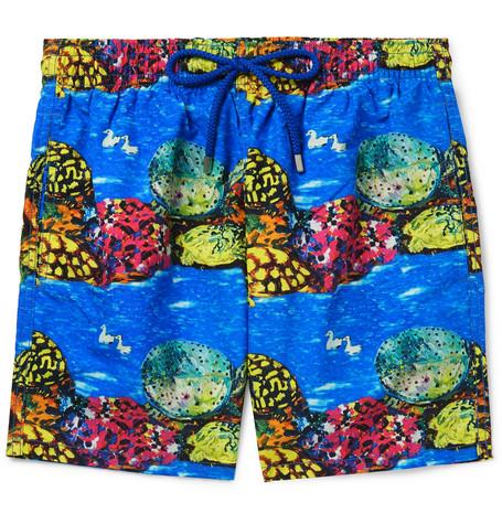 33d76e4ca26d0 Vilebrequin - + Hunt Slonem Moorea Mid-Length Printed Swim Shorts