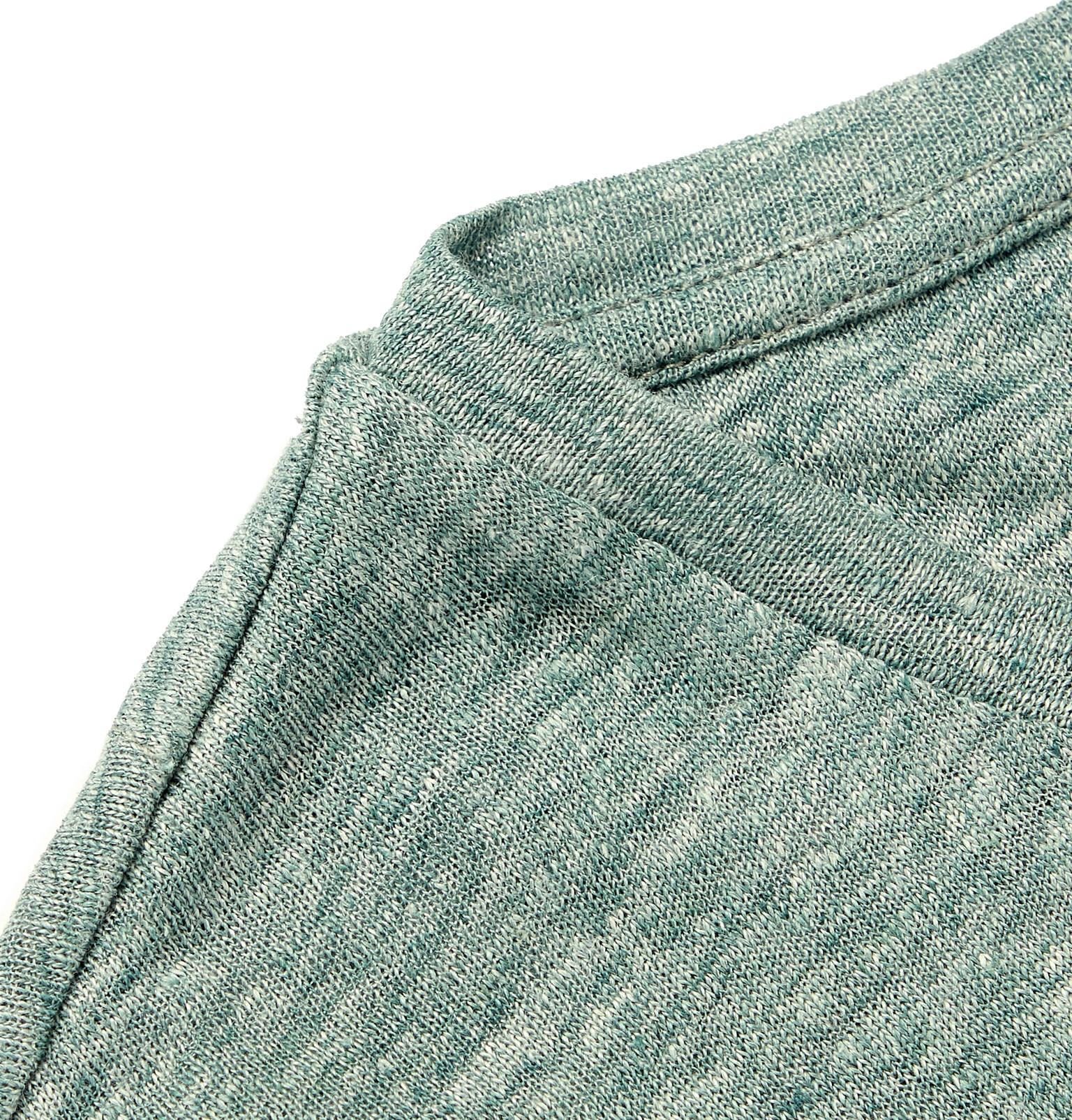 df6d4030bb Vilebrequin - Tiramisu Logo-Embroidered Mélange Linen T-Shirt