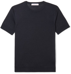 Orlebar Brown Laughton Knitted Silk and Cotton-Blend T-Shirt