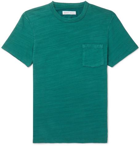 Orlebar Brown – Sammy Ii Garment-dyed Slub Cotton-jersey T-shirt – Green
