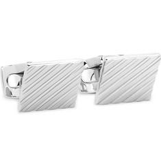 Engraved Silver-tone Cufflinks - Silver