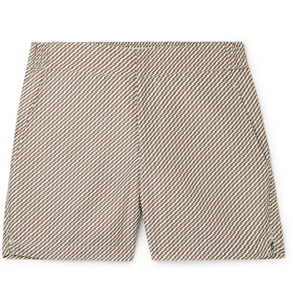 Pepe Slim-fit Mid-length Printed Swim Shorts - Green
