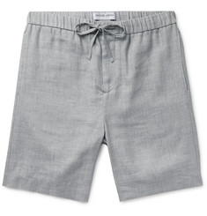 Frescobol Carioca - Felipe Mélange Linen and Cotton-Blend Drawstring Shorts
