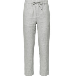 Frescobol Carioca Sandro Linen and Cotton-Blend Drawstring Trousers