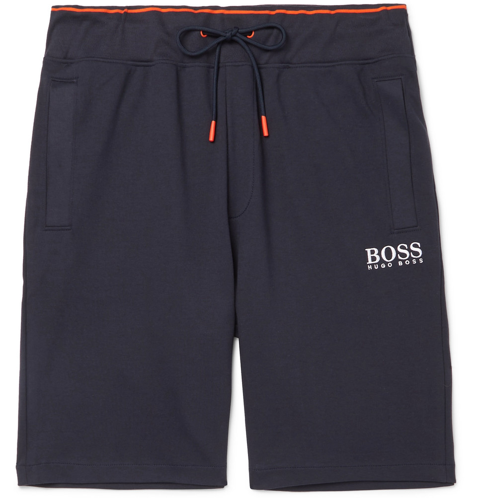 Hugo Boss Cotton-Jersey Drawstring Shorts