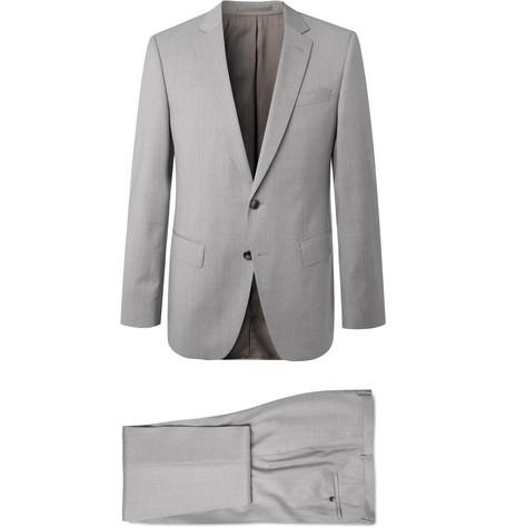 2f76c354 Hugo Boss - Grey Huge/Genius Slim-Fit Super 120s Virgin Wool Suit