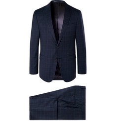 Hugo Boss Navy Novan/Ben Checked Super 130s Virgin Wool Suit