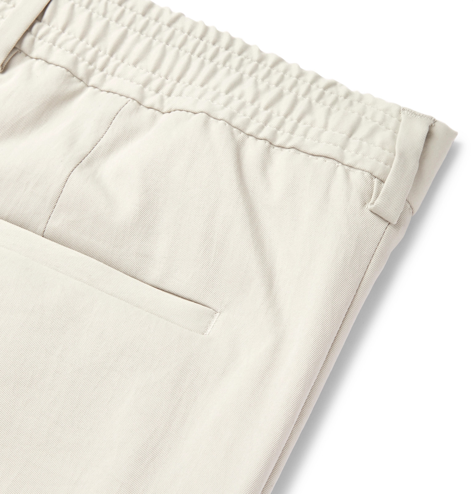 8f582c97a Hugo Boss - Cream Paco Cropped Slim-Fit Twill Trousers