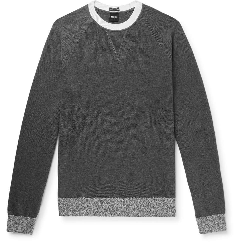 Hugo Boss Javio Contrast-Tipped Cotton Sweater