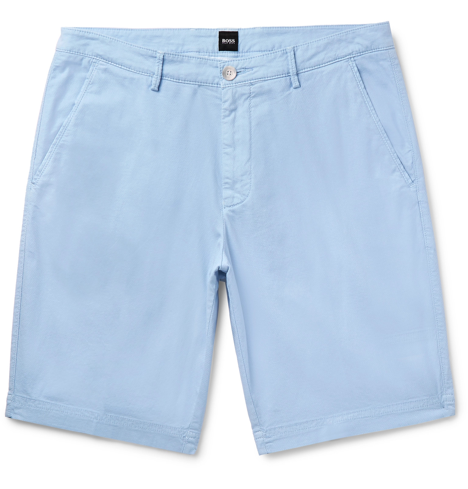 821e92dfc Hugo Boss - Slim-Fit Stretch-Cotton Shorts