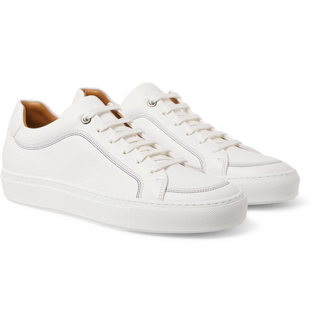 Mirage Textured Leather Sneakers by Hugo Boss