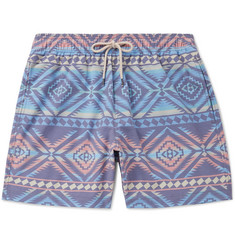 Faherty - Beacon Wide-Leg Mid-Length Printed Swim Shorts