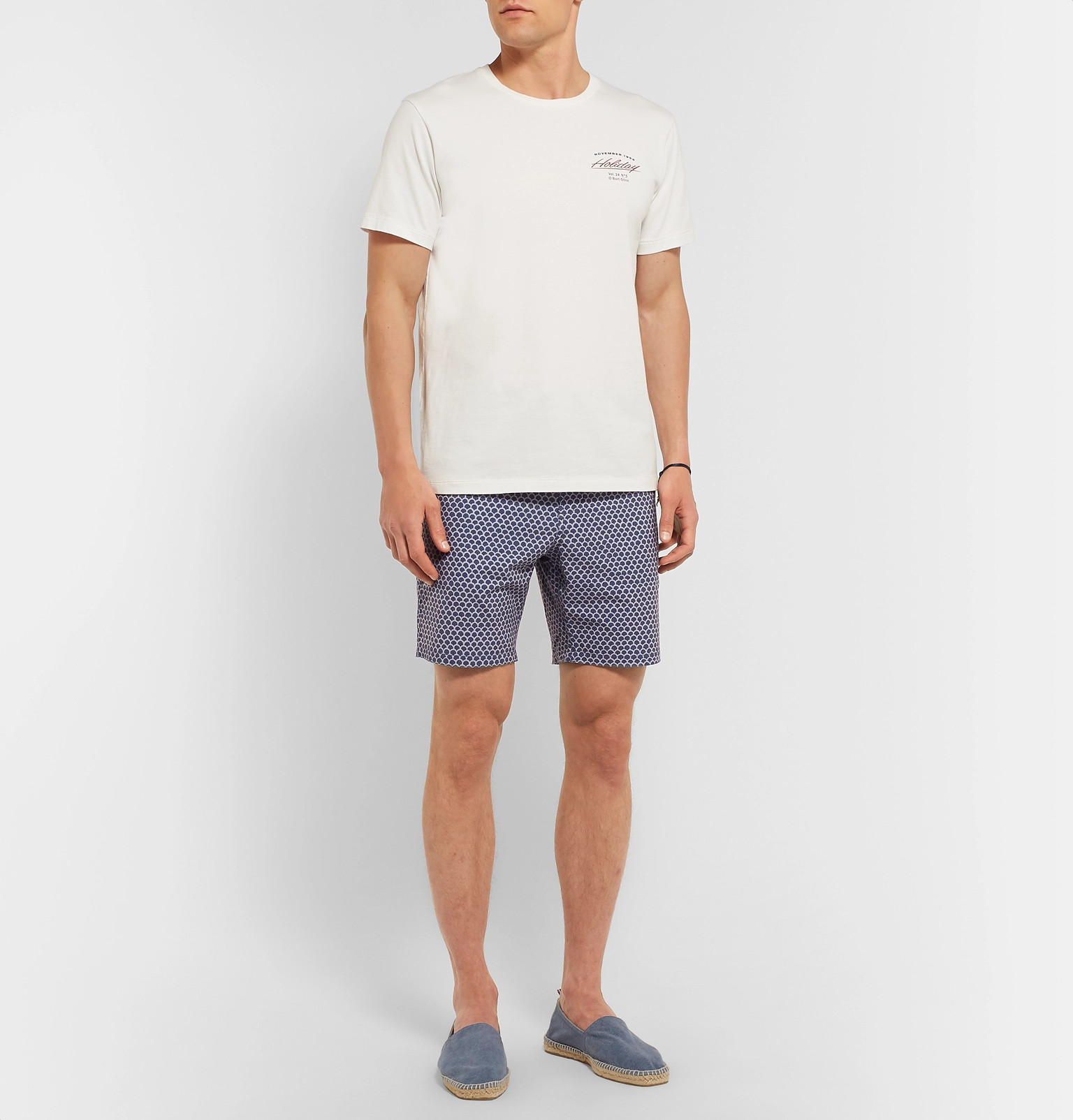 189a9aaa32 Faherty - Slim-Fit Long-Length Printed Swim Shorts