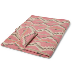 Faherty - Organic Cotton-Flannel Jacquard Blanket