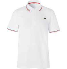Lacoste Tennis Stripe-Trimmed Cotton-Piqué Polo Shirt
