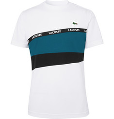 Lacoste Tennis Logo-Trimmed Colour-Block Tech-Piqué Tennis T-Shirt