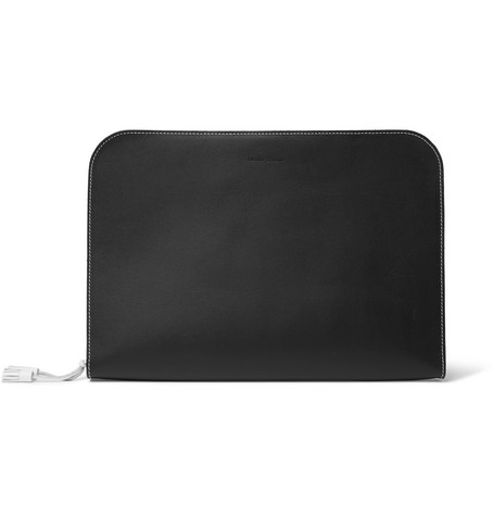 Hender Scheme Leather Zip-Around Pouch