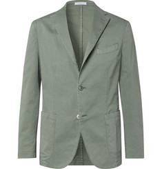 f347a9b6fdf Boglioli - Green K-Jacket Slim-Fit Unstructured Stretch-Cotton Twill Suit  Jacket