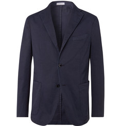 Boglioli - Navy K-Jacket Slim-Fit Unstructured Stretch-Cotton Twill Suit Jacket