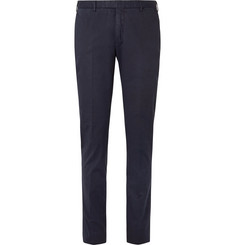 Boglioli - Navy Stretch-Cotton Twill Suit Trousers