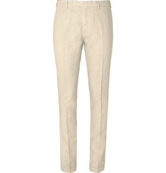 Boglioli - Cream Slim-Fit Linen Suit Trousers
