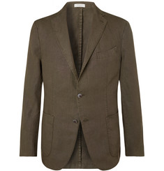 Boglioli - Green K-Jacket Slim-Fit Unstructured Linen Suit Jacket