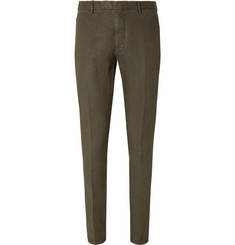 Boglioli - Green Slim-Fit Linen Suit Trousers