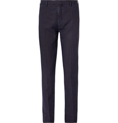 Boglioli - Navy Slim-Fit Linen Suit Trousers