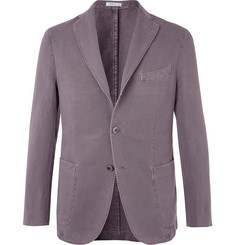 Boglioli Grey K-Jacket Slim-Fit Unstructured Cotton-Blend Drill Blazer