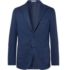Boglioli Navy K-Jacket Slim-Fit Unstructured Cotton-Blend Drill Blazer