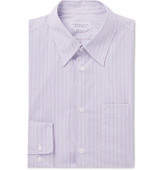 Gabriela Hearst - Grey Reyes Striped Cotton-Poplin Shirt
