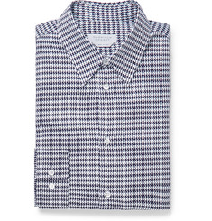 Gabriela Hearst - Quevedo Slim-Fit Houndstooth Brushed-Cotton Shirt