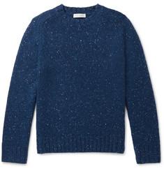 Mélange Cashmere Sweater - Navy